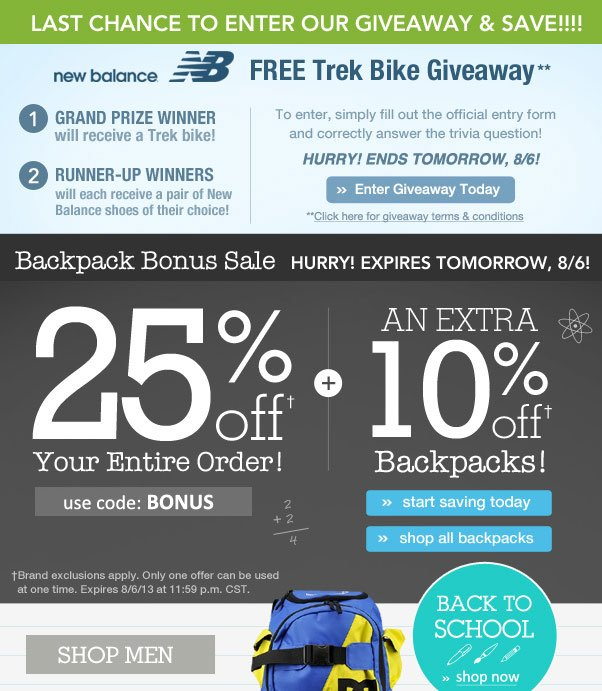 Backpack Bonus Deal - Ends Soon!
