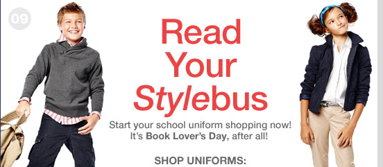 Read Your Stylebus | Start your school uniform shopping now! It's Book Lover's Day, after all!SHOP UNIFORMS:
