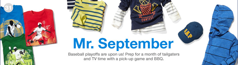 Mr. September | Baseball playoffs are upon us! Prep for a month of tailgaters and TV time with a pick-up game and BBQ.