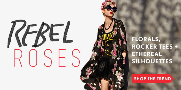 Florals, Rocker Tees + Ethereal Silhouettes - Shop Now