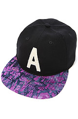 The Fungi Snapback Hat in Black