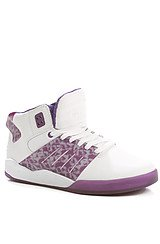 The Lil' Wayne Vice Pack Skytop III Sneaker in White & Purple Drank