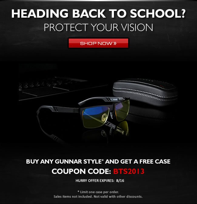 Heading Back To School? Protect Your Vision - Shop Now