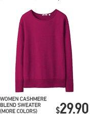 WOMEN CASHMERE BLEND SWEATER