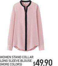 WOMEN STAND COLLAR BLOUSE