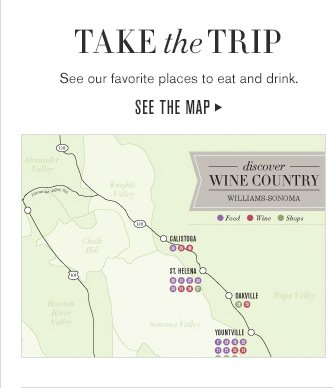 TAKE the TRIP - See our favorite places to eat and drink. SEE THE MAP