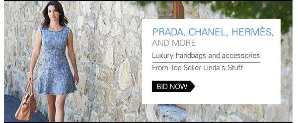 Prada, Chanel, Hermes, and more: Luxury handbags and accessories from Top Seller Linda's Stuff BID NOW