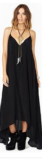 Lily Silk Maxi Dress
