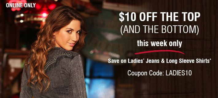 This Week Only - $10 Off The Top And The Bottom