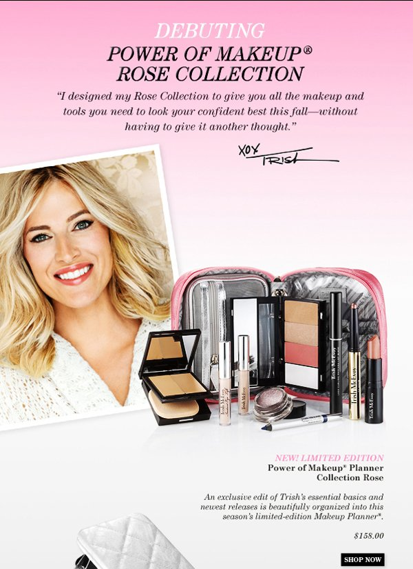 Trish McEvoy Power of Makeup Planner Collection Rose Fall 2013
