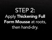 thickening full form mousse image