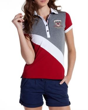 Galvanni Multicolor Emblem Embellished Polo Shirt Made In Europe