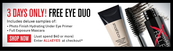 3 Days Only! Free Eye Duo