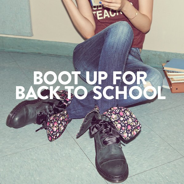 BOOT UP FOR BACK TO SCHOOL