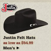 All Mens Justin Hats on Sale