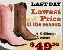 All Womens 4999 Boots on Sale