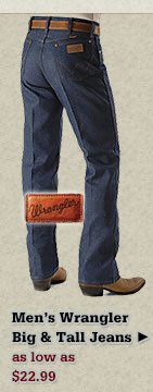 All Mens Big and Tall Wrangler Jeans on Sale