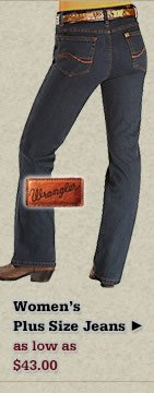 All Womens Wrangler Plus Size Jeans on Sale