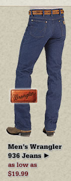 All Mens Wrangler 936 Jeans on Sale