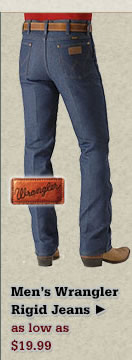 All Mens Wrangler Rigid Jeans on Sale