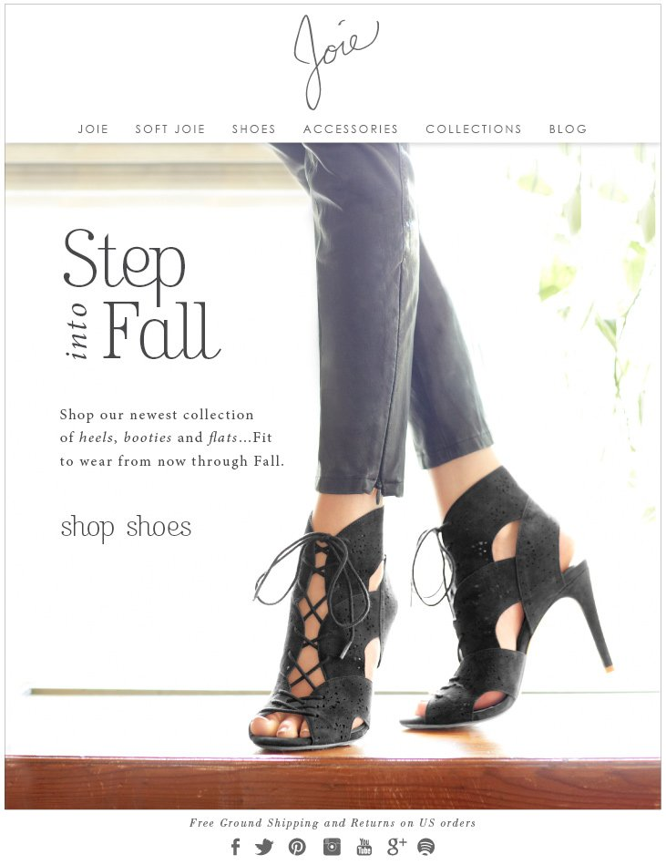 Step into Fall Shop our newest collection of heels, booties and flats...Fit to wear from now through Fall. shop shoes