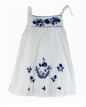 Little Cotton Dress Embroidered Girl's Dress