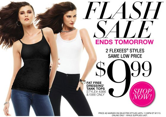Flash Sale 3 Days Only 2 Flexees Styles, Same Low Price $9.99