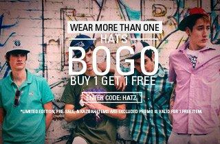Hats Buy 1, Get 1 Free