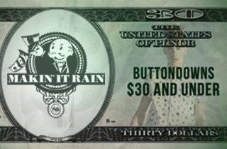 Buttondowns $30 & Under