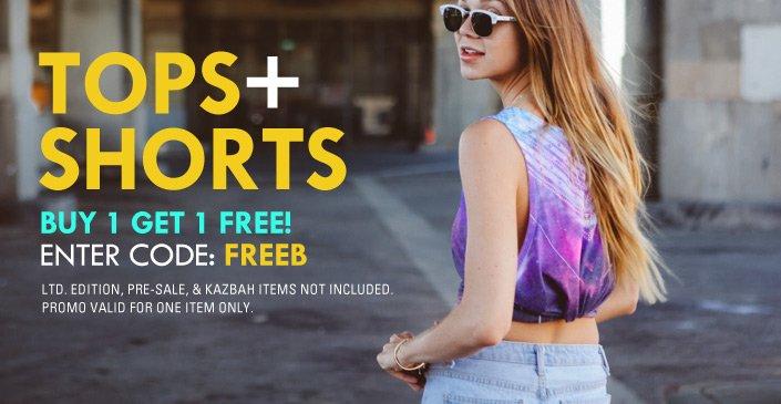 Summer Tops and Shorts BOGO