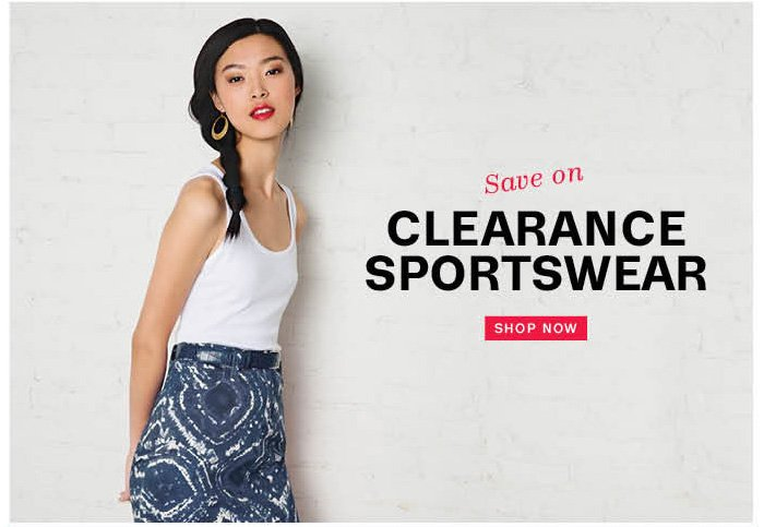 save on clearance sportswear shop now
