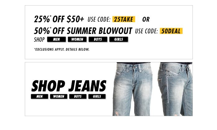 Shop DrJays.com Take 50% Off Summer Blowout Shop With Promo Code.