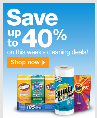 Save up  to 40% on the cleaning deals this week! Shop now.