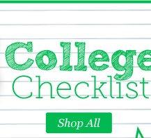 College Checklist. Shop All.