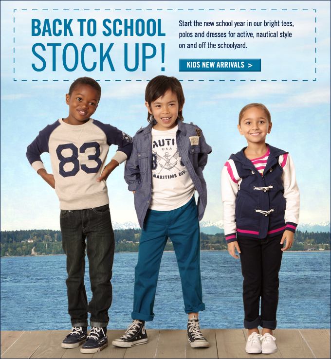 Back to school stock up! Shop Kids new arrivals.
