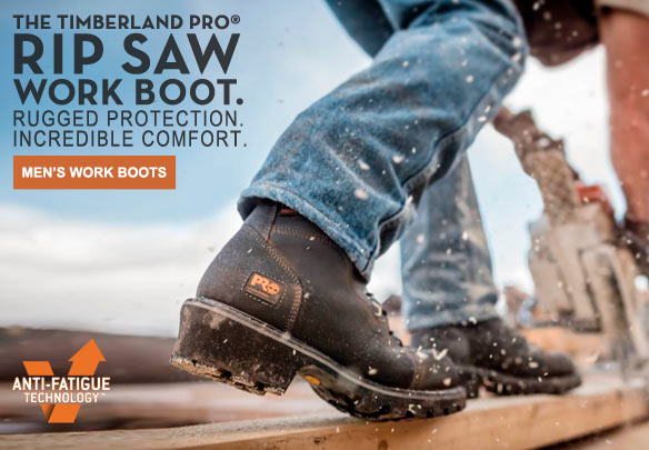 The Timberland PRO® Rip Saw Work Boot. Rugged Protection. Incredible Comfort.