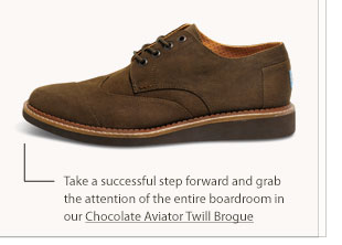 Chocolate Aviator Twill Brogue