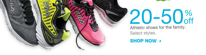 20-50% off Athletic shoes for the family. Select styles. Shop now.