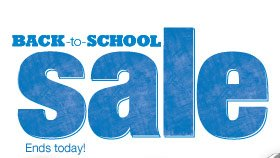 Back to School Sale. Ends today!
