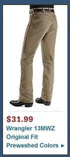 Wrangler Jeans - 13MWZ Original Fit Prewashed Colors