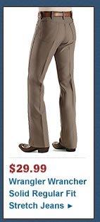 Wrangler Jeans - Wrancher Solid Regular Fit Stretch
