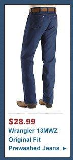 Wrangler Jeans - 13MWZ Original Fit Prewashed Denim
