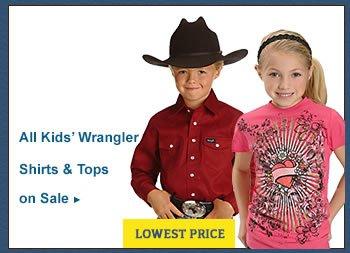 All Kids Wrangler Shirts on Sale