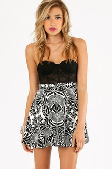 MIRRORS OF FANS SKATER SKIRT 30