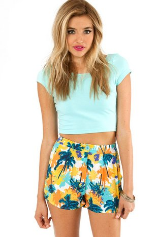 TROPICAL PALM TREES SHORTS 33