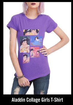 ALADDIN COLLAGE GIRLS TSHIRT