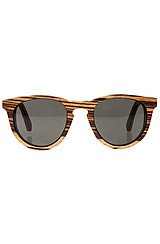 Belmont Sunglasses in Zebrawood East Indian Rosewood