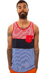 Rider Tank Top in Navy