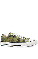 Chuck Taylor All Star Lo Camo Print Sneaker in Olive Branch