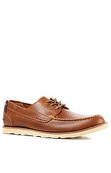 Abington Camp Moc Shoe in Light Brown Smooth